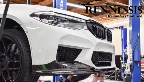 3D Style Dry Carbon Fibre Full Front Splitter- BMW F90 M5 & M5 Competition