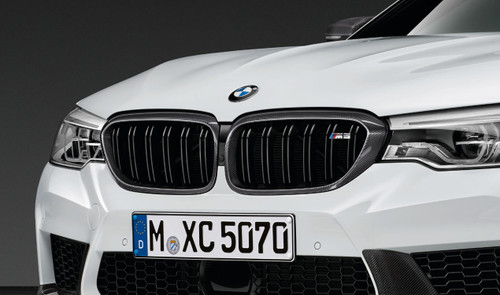 Genuine BMW M Performance Carbon Fibre Front Kidney Grilles for F90 M5 - 51712447091 51712447092