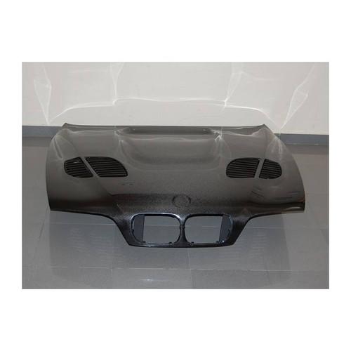 Rennessis GTR Style Vented Bonnet for BMW E39 5 Series & E39 M5 - Carbon Fibre
