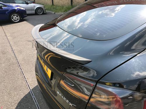 Tesla Model S Performance Look Matte Carbon Fibre Rear Boot Lip Spoiler