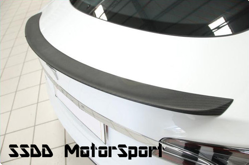 Tesla Model S Matte Carbon Fibre Rear Boot Lip Spoiler