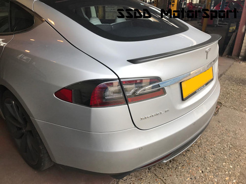 Carbon Fibre Rear Lip Spoiler For Tesla Model S