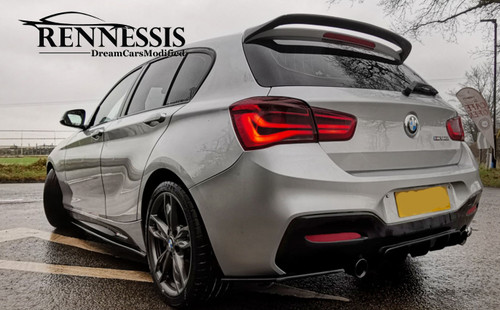 Painted BMW F20 F21 rear roof spoiler
