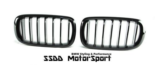 BMW F15 X5 F16 X6 M Performance Look Gloss Black Kidney Grilles