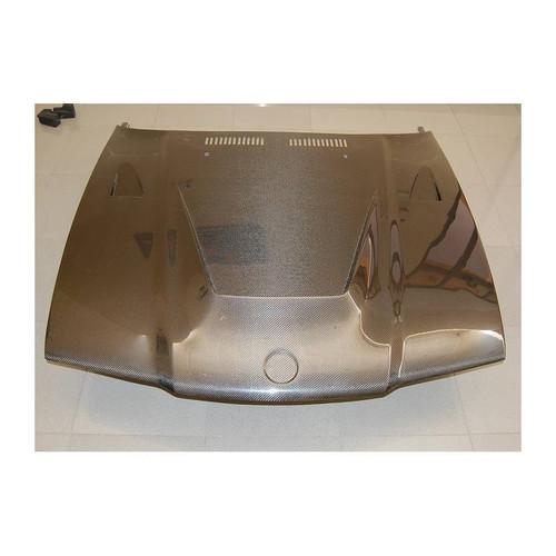 RENNESSIS BMW E36 2 Door Carbon Fibre Bonnet - Power Dome with Vents