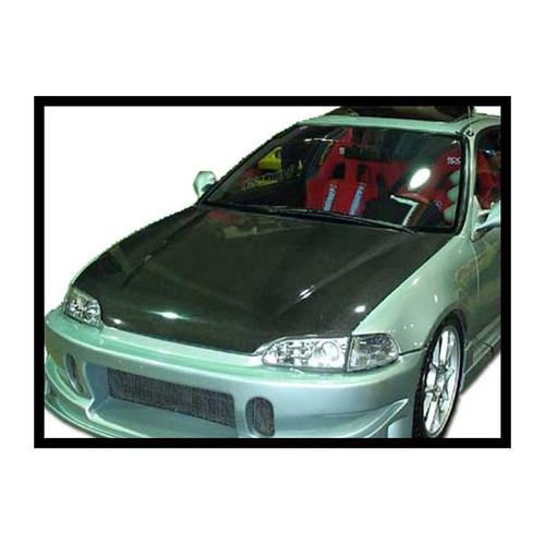 RENNESSIS HONDA CIVIC 4 Door 1992-94 Carbon Fibre Bonnet - OE Look