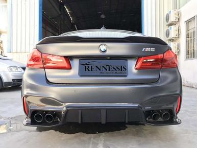 Gloss Black Gloss Black V Style Boot Lip Spoiler For a BMW 5 Series G30