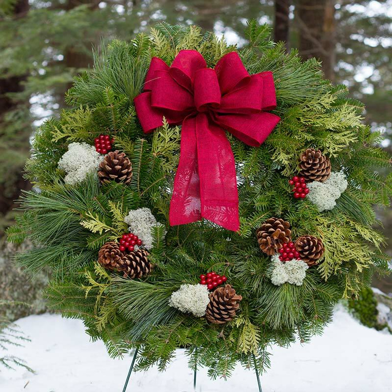 Winterberry Christmas Wreath From Maine Variegated Wreath