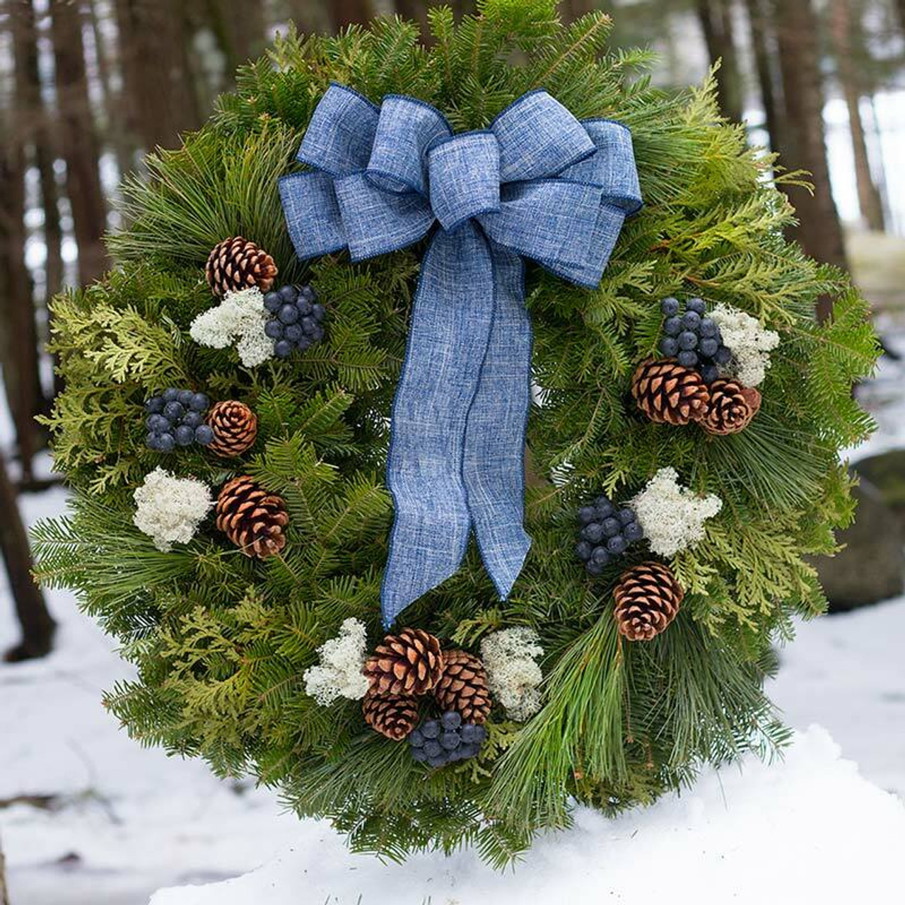 Blueberry Christmas Wreath From Maine Variegated Wreath