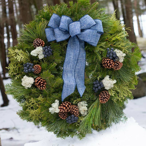 SOLD OUT - Blueberry Christmas Wreath