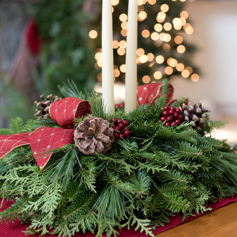 Winter Harbor Christmas Centerpiece