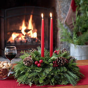Shop our full line of fresh table top Christmas centerpieces