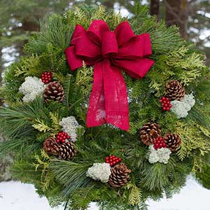 Shop our full line of fresh Christmas wreaths