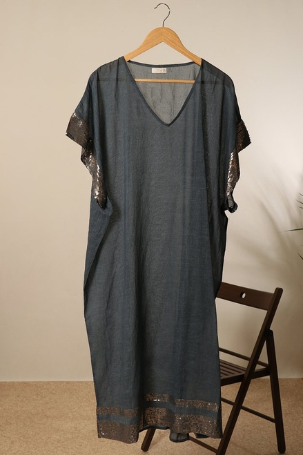 MSH 8480 Kaftan - Grey Long