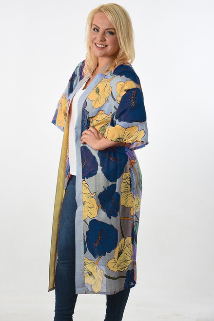 MSH Cover Up 8345 - Long - Blue