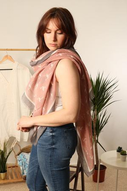 MSH Scarf 1234 - 100% Viscose - Dusty Pink