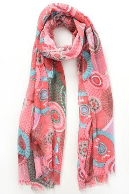 MSH Scarf 2538 - 100% Polyester - Pink