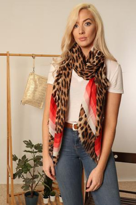 MSH Scarf 2747 - 100% Viscose - Red