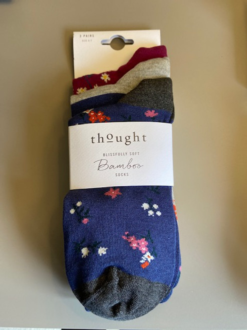 Thought Ladies Socks - 3 Pack SPW 5343 - Multi