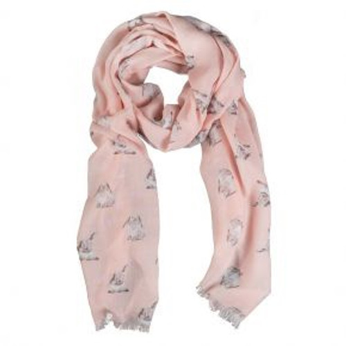 Wrendale Pink Bunny Scarf
