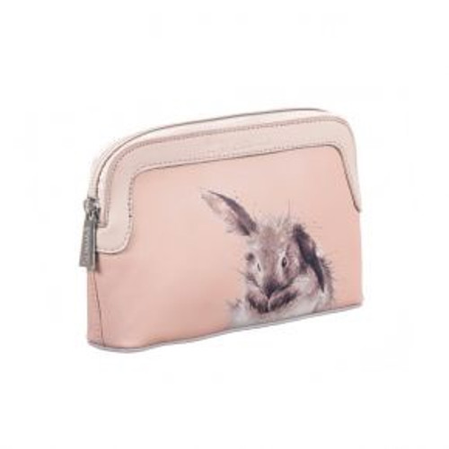 Wrendale Pink Bunny Small Cosmetic Case