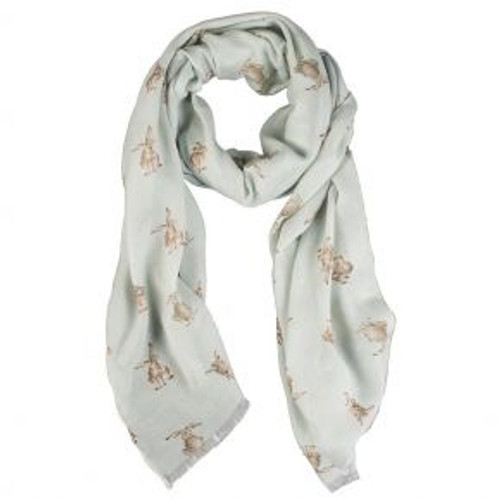 Wrendale Scarf - 'Leaping Hare'