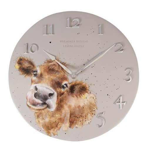Wrendale Wall Clock - Cow