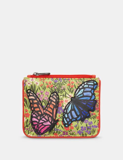 Yoshi Beautiful Butterflies Zip Top Purse