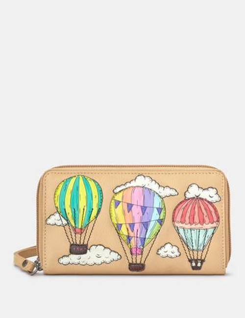 Yoshi Amongst The Clouds Wrist Strap Purse - Biscuit