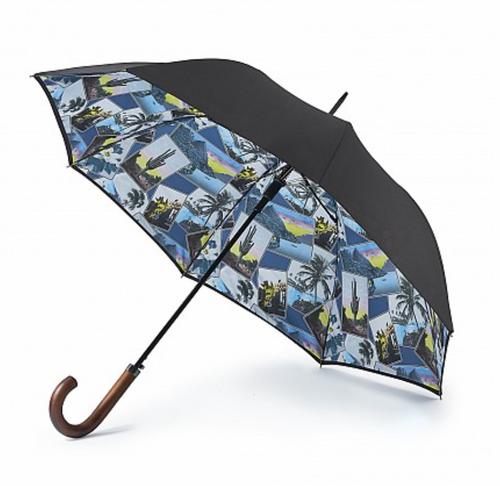 Ted Baker Men's  Shoreditch 2 Turquoise Trim Umbrella