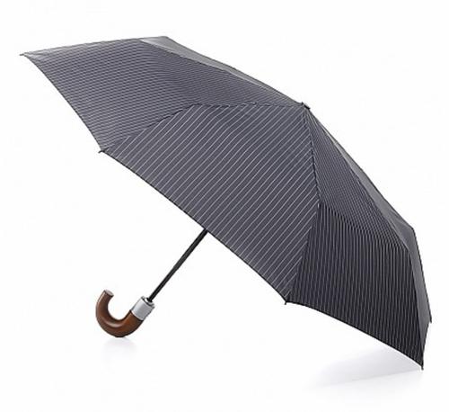 Fulton Men's Chelsea Stripe Automatic Umbrella - Grey