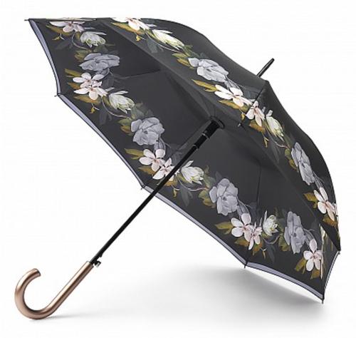 Ted Baker Bloomsbury Umbrella - Grey Floral