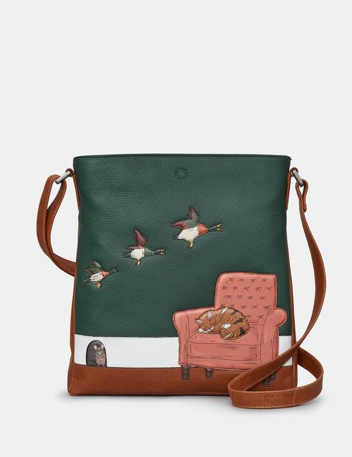 Yoshi Cat Nap Brown Medium Crossbody Bag