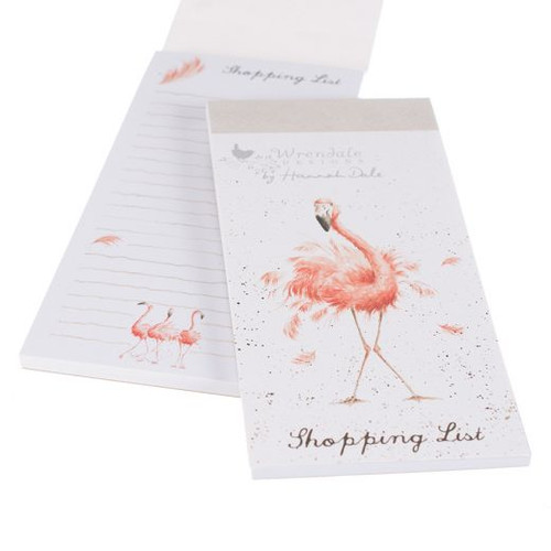Wrendale Magnetic Shopping List - 'Pretty In Pink'