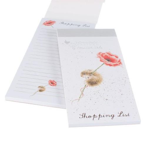 Wrendale Magnetic Shopping List - 'Poppy'