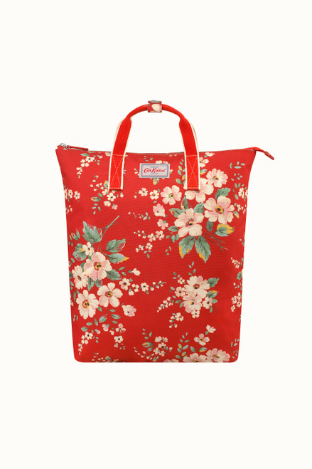 Cath Kidston Spitalfields Zip Top Backpack - Red