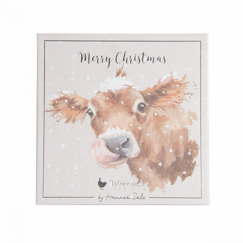 Wrendale Luxury Boxed Cards - 'First Taste Of Snow'