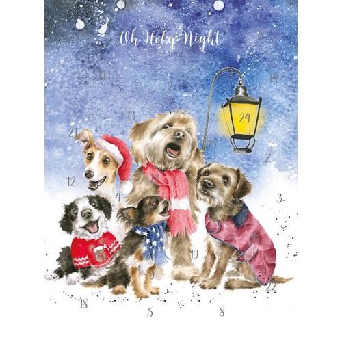 Wrendale A4 Advent Calendar - 'O Holy Night'