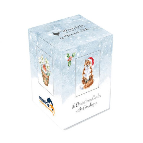 Wrendale Mini Boxed Charity Christmas Card - Hare