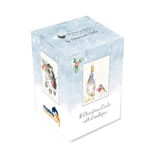 Wrendale Mini Boxed Charity Christmas Cards - Cats