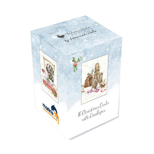 Wrendale Mini Boxed Charity Christmas Cards - Dog