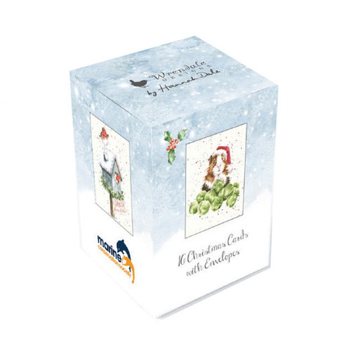 Wrendale Mini Boxed Charity Christmas Cards - Tree