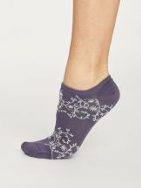 Thought Ladies Trainer Sock SPW 426 Purple