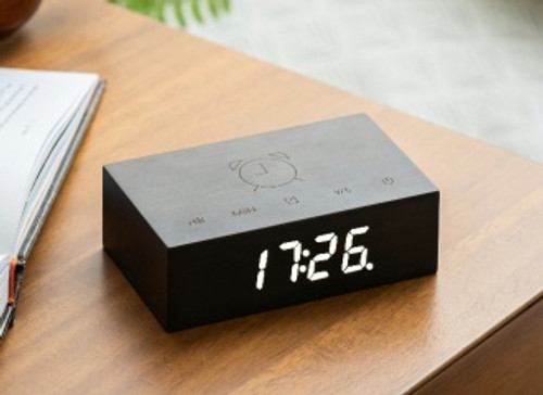 Gingko Flip Click Clock Black