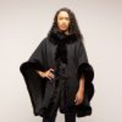 Tilley and Grace Nikita Hooded Cape Black - NOW 50% OFF