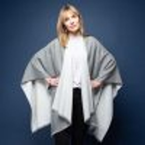 Tilley and Grace Tess Wrap Grey/Grey - NOW 50% OFF