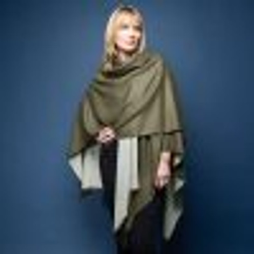 Tilley and Grace Tess Wrap Khaki/Stone -  NOW 50% OFF