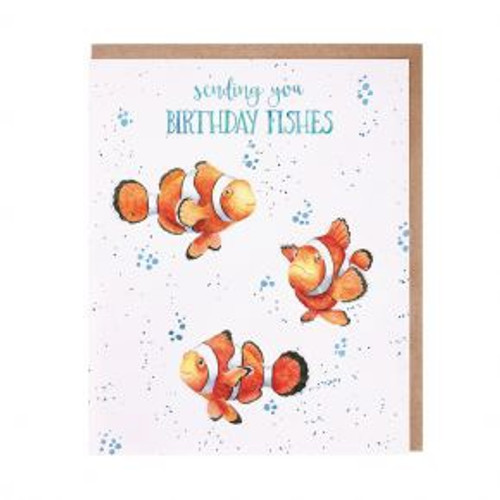 Wrendale 'Birthday Fishes' Card