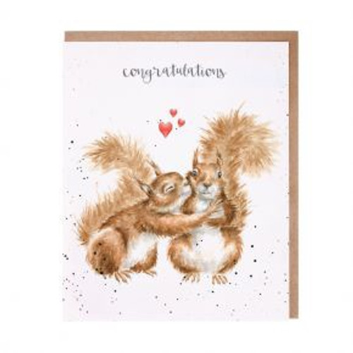 Wrendale Congratulations Nuts About Each Other Card