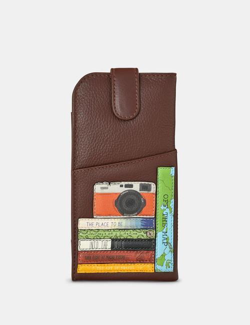 Yoshi Travel Bookworm Glasses Case - Brown